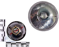 Фара ВАЗ 2101, 2102 левая=правая стекло+отражатель 12/24В (с подсветкой). 62.3711200-16 (ОСВАР)