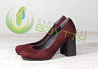 Замшевыеженские туфли Наша Версия 087 бор 35 размеры, фото 1