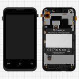 Prestigio MultiPhone 4020 Duo дисплей в зборі з тачскріном з рамкою модуль чорний