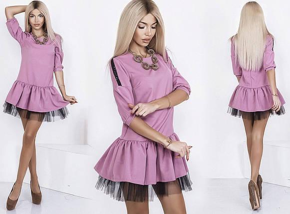 Мини платье с фатином, фото 2