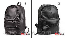 Мужской кожаный рюкзак Код r1 черный