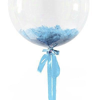 Перья для шариков голубые