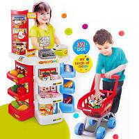 Детский магазин 668-20, прилавок, кассовый аппарат, тележка, продукты, развивающие игры, игра магазин