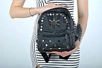 Рюкзак женский POOLPARTY с железными клепками