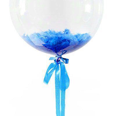 Перья для шариков синие