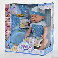 Пупс Baby Love BL 014 A, с пьет из бутылочки, кушает кашу, ходит на горшок, можно купать в воде, пупсики