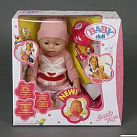 Пупс Baby Doll 8001-K,пьет из бутылочки, кушает кашу, писает в памперс, закрывает глазки, пупсики