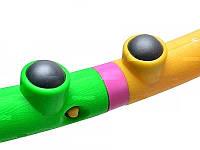 Гимнастический массажный обруч М0251, диаметр 98 см, 40 массажных резиновых шариков, разбирается на 8 частей