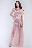 Вечернее платье в пол из гипюра