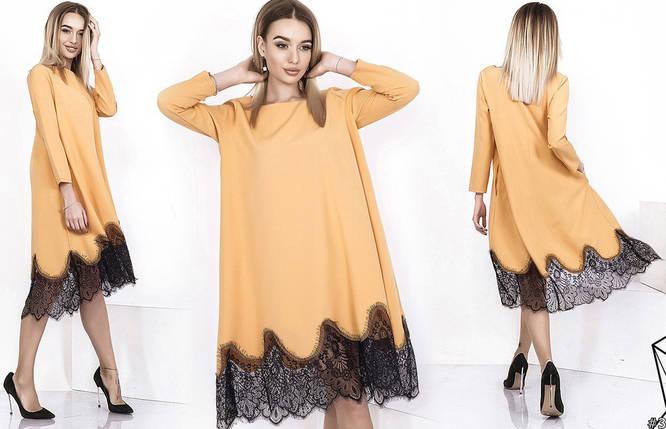 Свободное платье с кружевом, фото 2