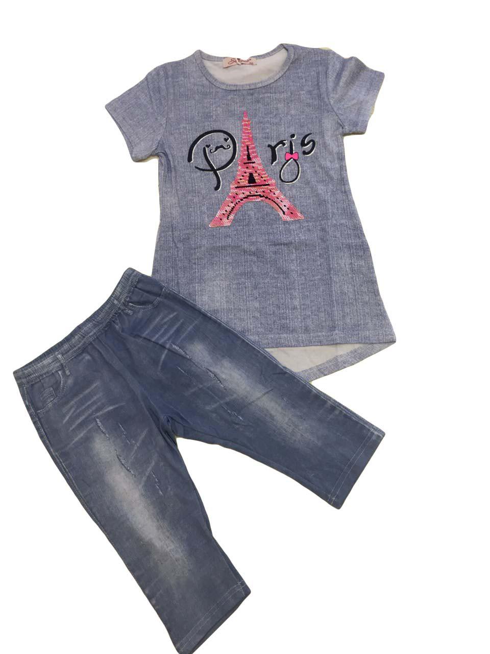 Комплект летний для девочки опт, размеры 6-14 лет, Seagull , арт. CSQ-58511