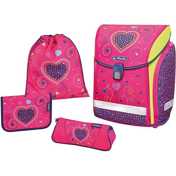 0bc6805412b2 Ранец Herlitz Midi Plus Pink Hearts 4 Предмета 50013715 — в ...