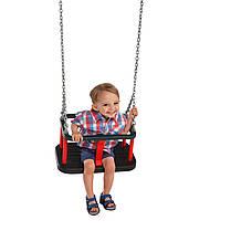 Качели детские обрезиненные с защитой Traditional на цепях, фото 2