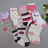 """Носки  для девочек с """"тормозами"""" 0-6 (0-8) месяцев, """"ЮЛИЯ""""  . Детские  носки,  носочки для девочек, фото 1"""