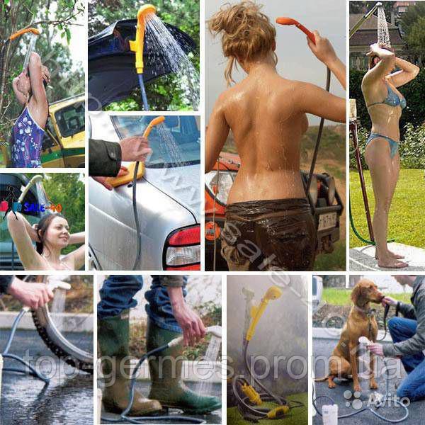 Автомобильный душ,туристический душ,автодуш