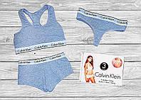 Calvin Klein Топик, Шортики, Стринги - комплект белья