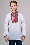 Вышиванка мужская Тарас (красный орнамент), фото 2