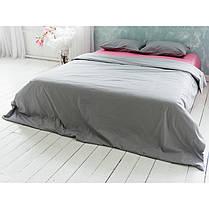 Постельное белье Микс розовый+серый ранфорс Lux ТМ Царский дом  (Двуспальный), фото 2