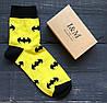 Носки Elegant's желтые со значком Batman (070103)