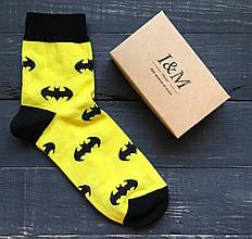 Носки I&M Craft Elegant's желтые со значком Batman (070103)