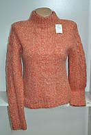 Женский  зимний свитер под горло мохер