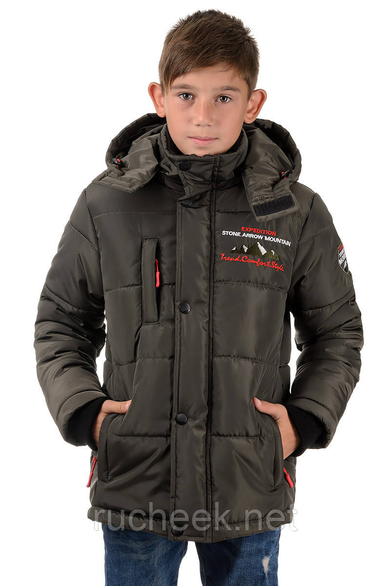 Зимняя куртка на подростка Arizona_хаки 38 р.(рост 140)