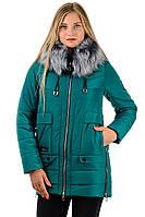 Женская зимняя куртка Катя_изумрудная
