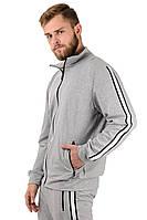 Светло-серый спортивный костюм мужской Лампас