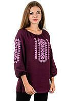 Сорочка вышиванка Орнамент (бордо), фото 1