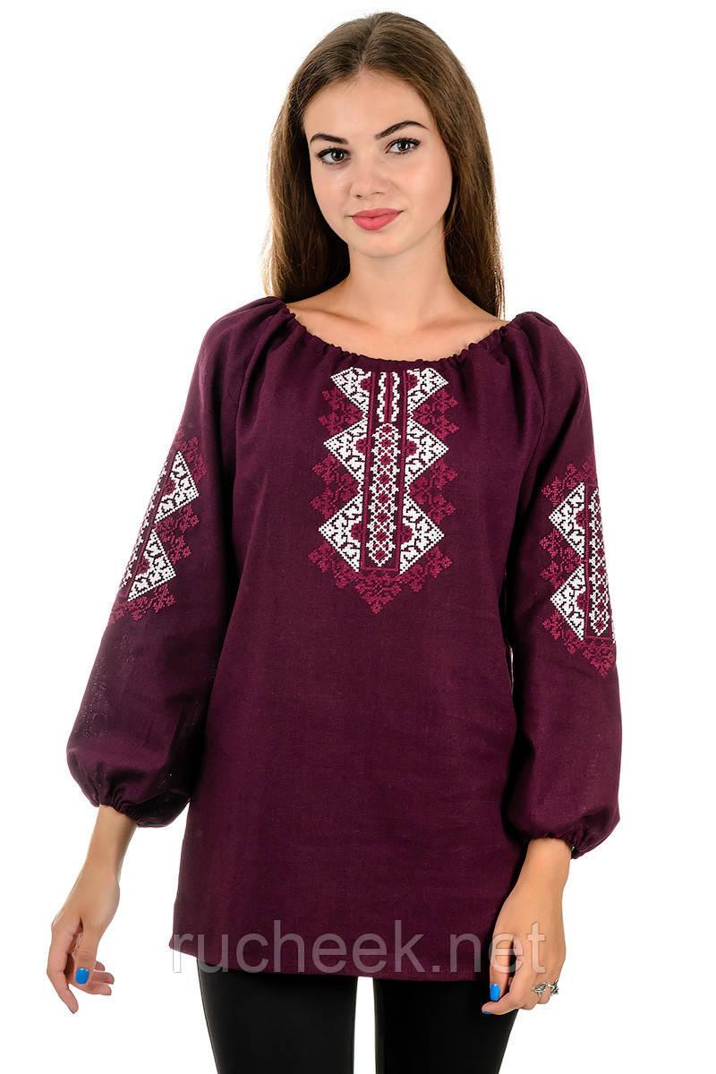 Сорочка вышиванка Украиночка (бордо)