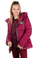 """Весення куртка для девочки """"Nice""""_бордо, фото 1"""