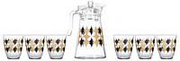 Графін з стаканами Luminarc Neo Elmas Sparkle 7 предметів 3460