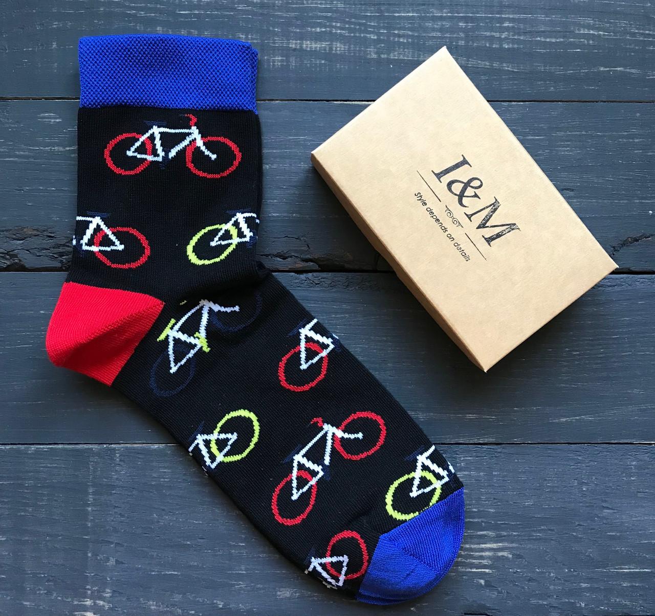 Носки I&M Craft Elegant's черные с велосипедами (070110)