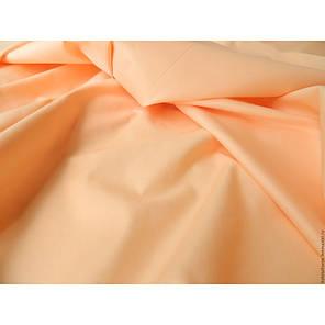 Постельное белье Однотонный Персиковый ранфорс Lux ТМ Царский дом  (Двуспальный), фото 2
