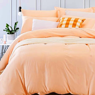 Постельное белье Однотонный Персиковый ранфорс Lux ТМ Царский дом  (Евро), фото 2