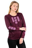Женская трикотажный свитшот-вышиванка (марсала), фото 1