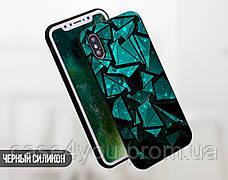 Силиконовый чехол для Meizu M6 Note Зелёные осколки (21032-3023), фото 2