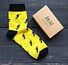 Носки Elegant's желтые с черными молниями (070115)