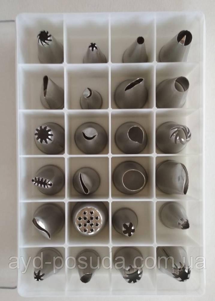 Кондитерские насадки (нержавеющая сталь, 24 шт/уп.), арт. 13-3