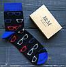 Носки Elegant's черные с стильными очками (070117)