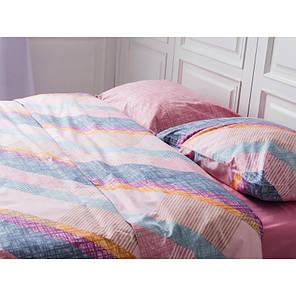 Постельное белье Паралель розовый ранфорс Lux ТМ Царский дом  (Полуторный), фото 2