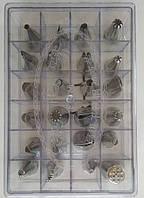 Кондитерские насадки (нержавеющая сталь, 24 шт/уп.), арт. 7-7