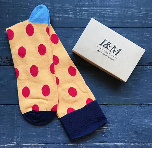 Гетры I&M Craft желтые в красный горох (070113), фото 2