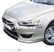 Клыки переднего бампера Mitsubishi Lancer X 2007-2016