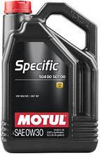 Масло MOTUL SPECIFIC 504.00 507.00 0W-30 5л (838651)