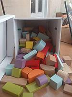 Детский деревянный конструктор 80 деталей Cubika 13821