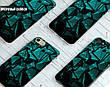 Силиконовый чехол для Samsung J510H Galaxy J5 (2016) (Зелёные осколки), фото 6