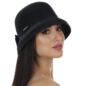 Женская летняя шляпа моделируемое поле цвет черный