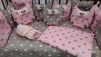 """Детский набор постельного белья для малыша в кровать """"Сова"""" с1-3"""
