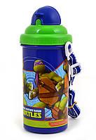 """Бутылка с трубочкой для напитков """"Ninja Turtles (Черепашки Ниндзя)"""", ТМ 1 Вересня"""